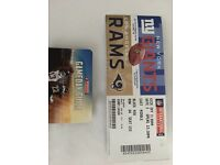NFL American football ticket - Giants v Rams - Sunday 23rd October 2:30pm kick off - Twickenham