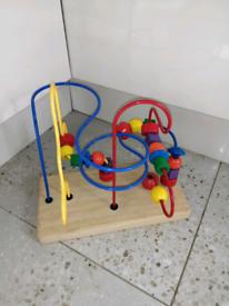 Wooden bead maze children's toy
