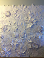 For Sale:Paper Flower Wall 6' wide x7.5' tall (wedding or event)