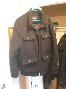 Mens Wool Coat/wool jacket size XL - faulty zipper