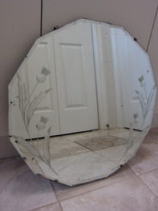 Antique Dodecagon Bevelled And Etched Mirror