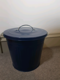 Small blue bin for storage as new