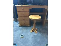 Dressing table + side table
