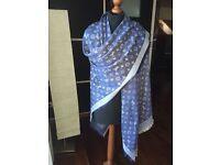 Denim blue lv scarf brand new IN STOCK