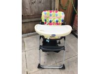 Chicco baby high chair - excellent condition