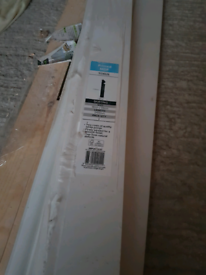 4 White MDF Torus Skirting board (L)2.4m (W)119mm (T)18mm