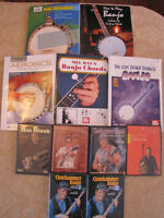 Banjo lesson books and DVDs