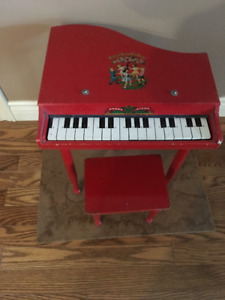 """Children's Piano with Bench """"Ring Around The Rosy"""" working  16"""