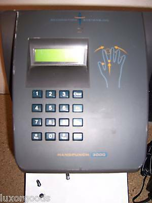 RSI HANDPUNCH 3000 ETHERNET BIOMETRIC TIME CLOCK , used for sale  Shipping to India