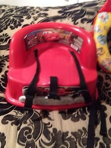 Booster seat for dining/kitchen chair (CARS) themed