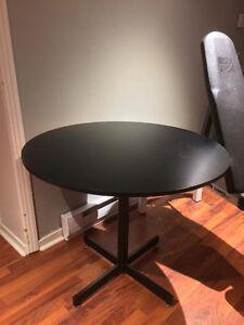 Table de cuisine ronde - noir