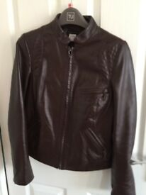 Brown leather jacket 12