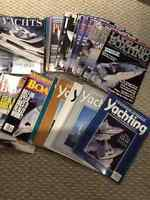 Assorted boating magazines