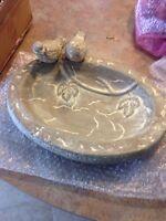 Bird bath, stone