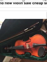 3/4violin with case and bow