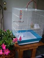 Large White Budgies Cage