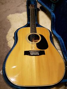 Vintage 1971 Yamaki AY433 12 String Acoustic Guitar