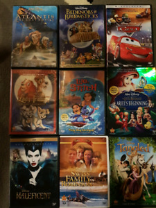 Disney movies. Cars, Swiss Family Robinson and more