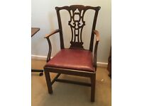 Large Oak Carver / Office Chair
