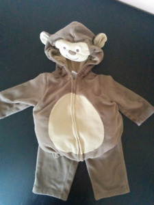 Super Cute Monkey Costume Perfect for Halloween, size 12 months