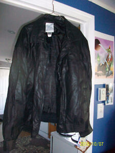 Mens xl new leather jacket, and xl new mens Montreal Canadians