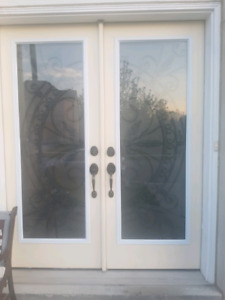Wrought iron window inserts