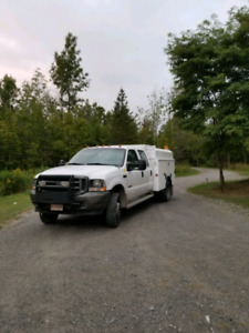 2004 ford f450 xl dually crew cab service body new batteries