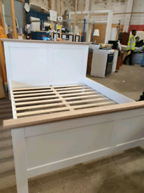 New Canterbury two tone kingsize bed frame available