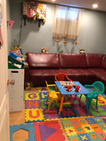 Garderie spots. Daycare spots available