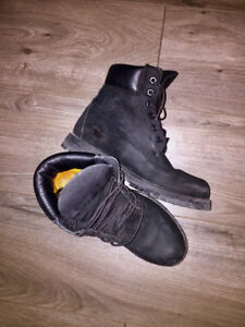 Black TIMBERLAND Premium Waterproof Leather Lace-Up Boots