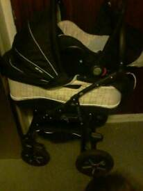 Black and cream Pram