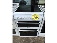 HOTPOINT 60CM CEROMIC TOP ELECTRIC COOKER. H