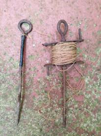 Vintage antique garden tools