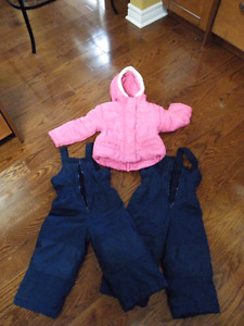 Girls winter coat and 2 sets of snow pants