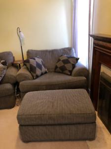 4- Piece Grey Sklar Peppler Sofa Set- Price Negotiable