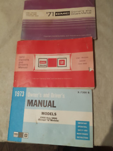 1971, 1972, 1973 GM Truck Owners Manuals