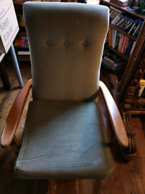 Old granny chair barely used , fairly worn.