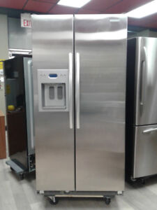 """fridge kitchenAid 36"""" side by side stainless s"""