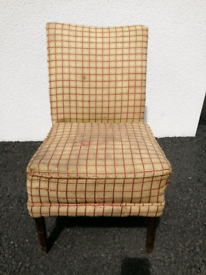 Vintage Airborne Upholstery Chair from early to mid 1900's
