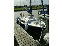 Hurley Silhouette Mk3 Yacht sailing boat Mariner four stroke 4hp outboard motor
