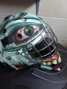 BAUER NME3 Adult Goalie Hockey Mask Custom Paint Mint Condition