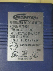 Gamester AC-DC Adaptor RC71088 AND DC-DC Converter RC71089 Stratford Kitchener Area image 3