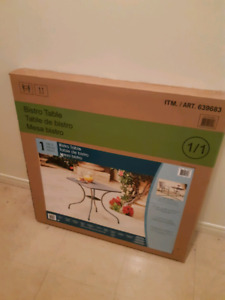 Bistro table for sale, NEVER USED, NEVER OPENED