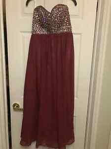 Maroon Prom Dress