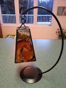 Beautiful Stained Glass Tea Lite in Wrought Iron Stand Prince George British Columbia image 1
