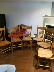 Antique maple chairs