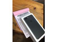 Iphone 7 plus 128gb Matte Black unlocked 12 month Apple warranty