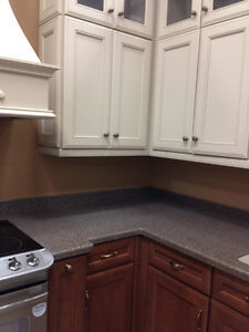 CABINETS, CORIAN COUNTER, SINK, RANGE HOOD & HARDWARE (PAID $40k London Ontario image 9