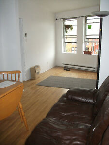4 1/2 with double sized living room. Available immediatley!!!