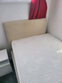 Single bed, matress and headboard